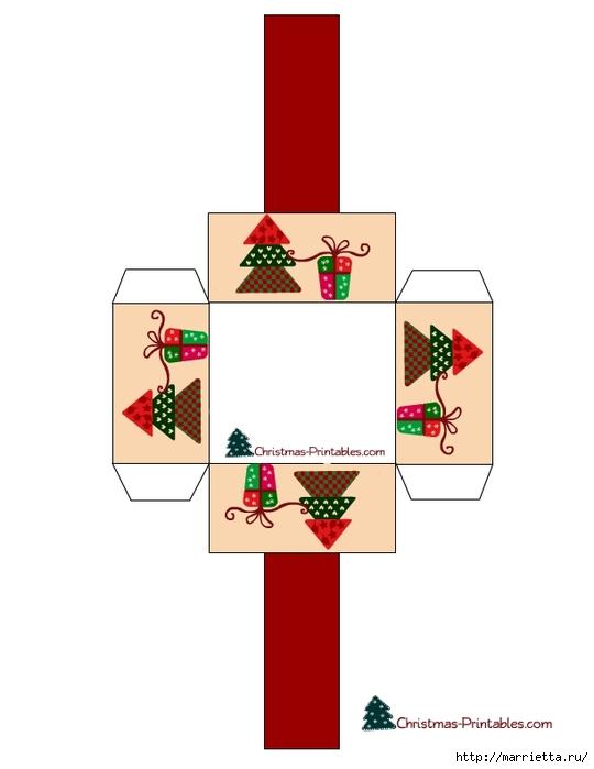 Новогодние коробочки. Шаблоны для распечатки (17) (540x700, 78Kb)