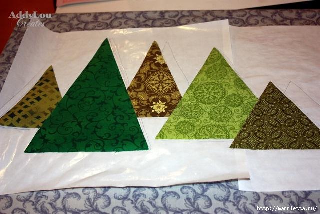 servilleta de Navidad con árboles de Navidad.  Acolchar (4) (640x427, 198Kb)