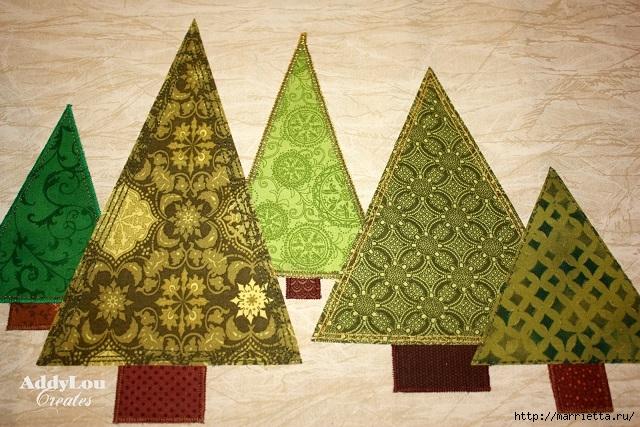 servilleta de Navidad con árboles de Navidad.  Acolchar (12) (640x427, 269KB)
