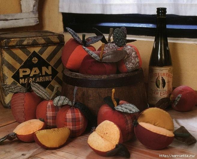 Украшаем интерьер текстильными яблочками (3) (657x531, 233Kb)
