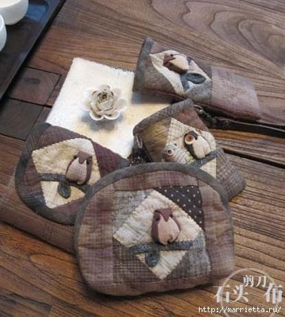 Лоскутное шитье. Футляры для очков - красивые идеи (1) (414x460, 131Kb)