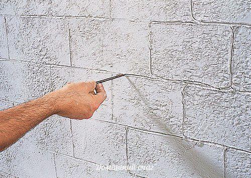 Как сделать стену под камень видео