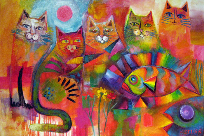 rainbow_fish_and_his_kitticat_friends_by_karincharlotte-d594qob (700x469, 137Kb)