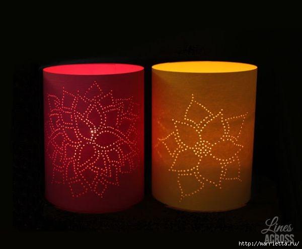 Бумажные фонарики своими руками (4) (600x495, 85Kb)