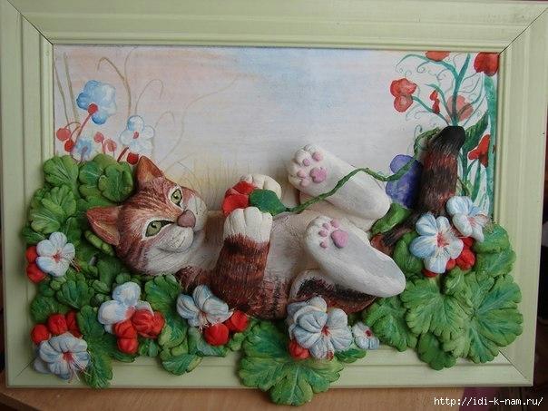 Кошки масНастенные столиЦветы из кожи кПоделки для