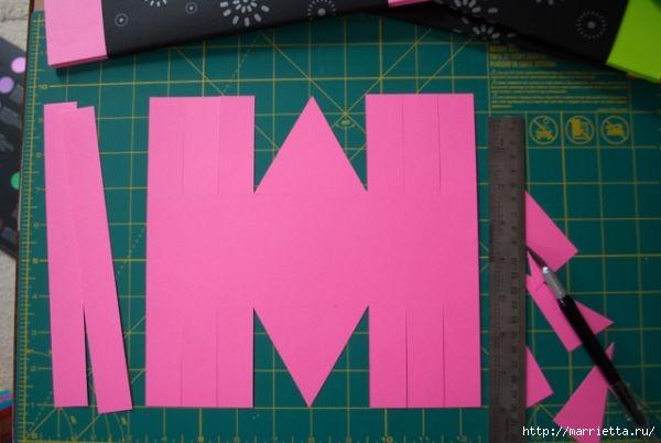Корзинка из цветной бумаги своими руками (6) (600x402, 99Kb)
