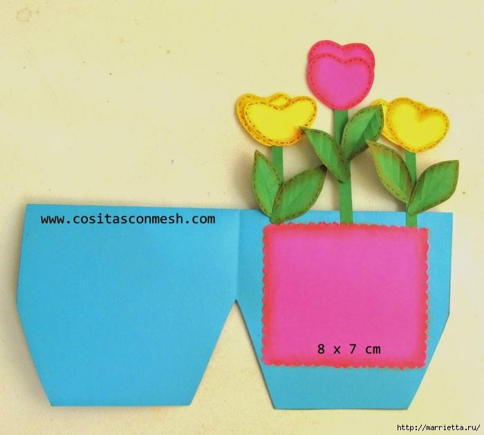 Бумажные цветы для детского подарка к 8 марта (10) (700x629, 234Kb)
