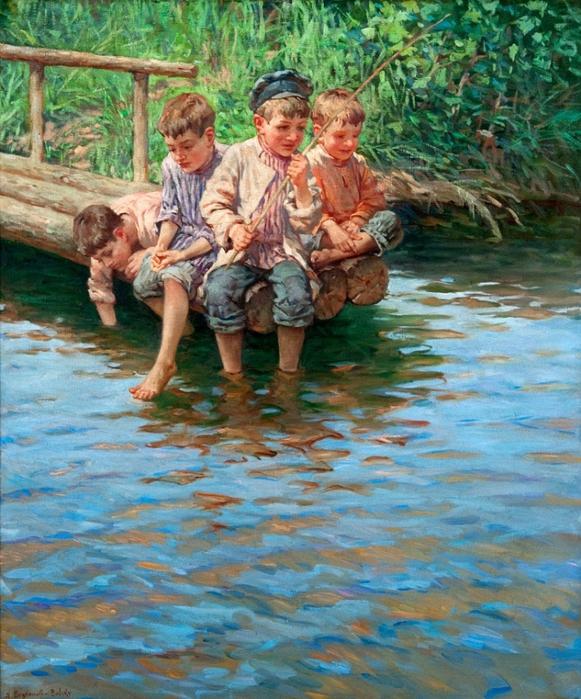 мальчик на рыбалке стихи