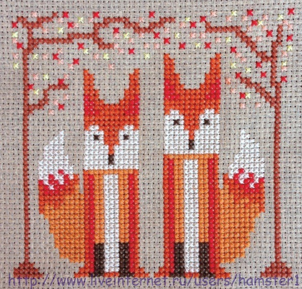 Foxy Pair (2) (595x569, 565Kb)