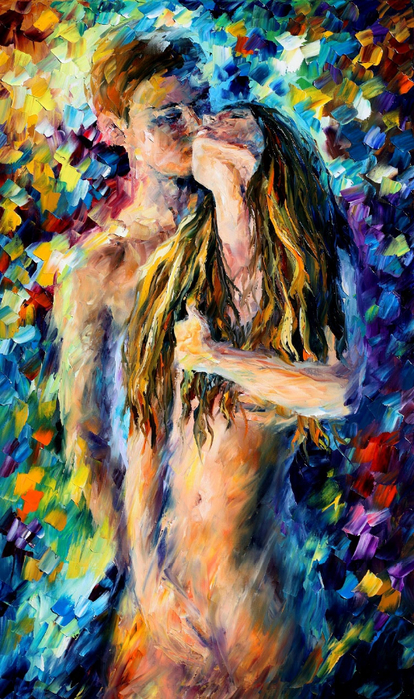 Leonid Afremov [Леонид Афремов] - Lovers - Tutt'Art@ (7) (414x700, 501Kb)