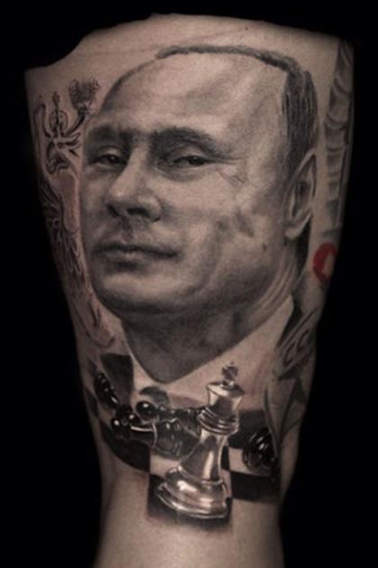Самые эффектные и необычные татуировки с Путиным