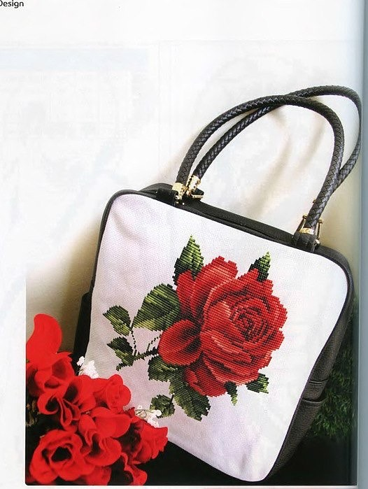 Схема вышивки крестиком для сумки