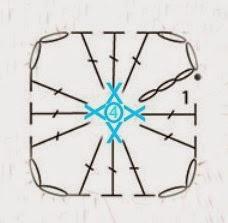 Бабушкин квадрат - мотивы для вязания пледов, подушек и покрывал (5) (228x223, 34Kb)