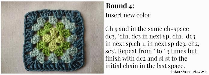 Бабушкин квадрат - мотивы для вязания пледов, подушек и покрывал (11) (700x250, 145Kb)