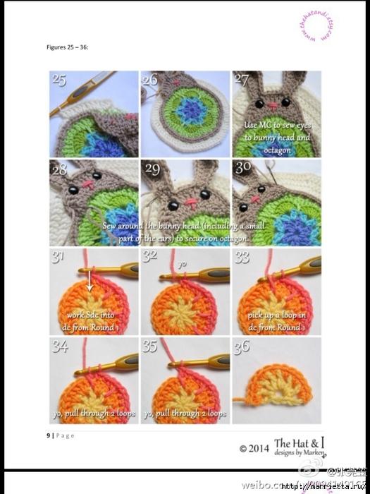 Детский плед с зайцами крючком (8) (525x700, 222Kb)