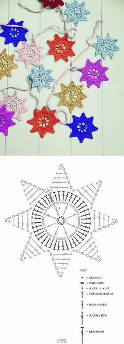 Схемы мотивов для вязания пледов, подушек и покрывал (21) (252x700, 170Kb)