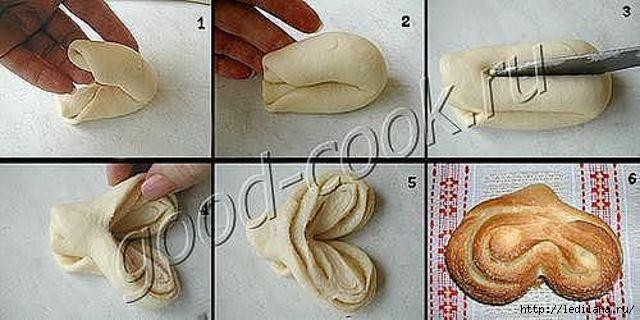 Как сделать розочки из теста на булочки