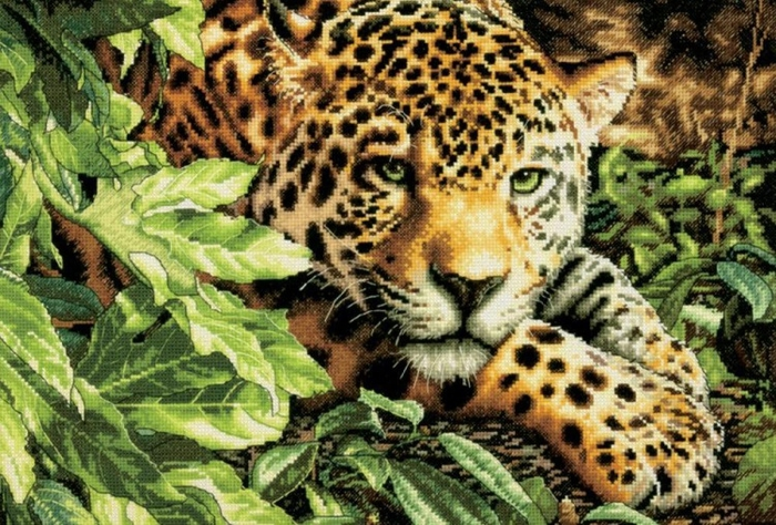 """Схема вышивки """"Тигр в момент"""