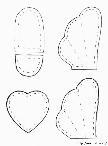 Текстильная подвеска. Девочка АНГЕЛ с валентинкой (3) (435x587, 68Kb)