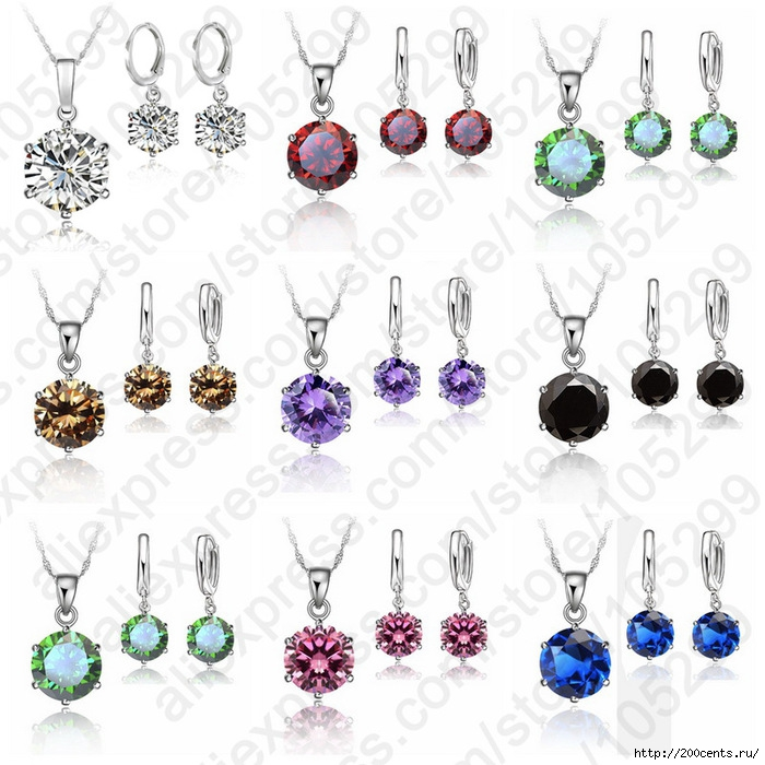 2015 Woman 925 Sterling Silver 8MM Jewelry Sets Cubic Zircon Crystal Lever Back Earrings Pendant Necklace Nice Gifts 8MM Stone/5863438_2015Woman925SterlingSilver8MMJewelrySetsCubicZirconCrystalLeverBackEarringsPendantNecklace1 (700x700, 260Kb)