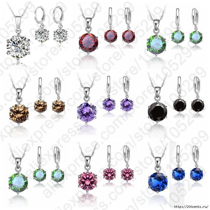 2015 Woman 925 Sterling Silver 8MM Jewelry Sets Cubic Zircon Crystal Lever Back Earrings Pendant Necklace Nice Gifts 8MM Stone/5863438_2015Woman925SterlingSilver8MMJewelrySetsCubicZirconCrystalLeverBackEarringsPendantNecklace1 (700x700, 260Kb)