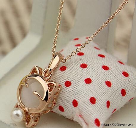 YANA Jewelry Fashion Gold Plated Cat Statement Necklace For Woman 2015 New necklaces & pendants Sale N12/5863438_YanauvelirnieizdeliyapozolotaCatsebeojereledlyajenshiniojerelyaipodveskiN124 (458x430, 162Kb)