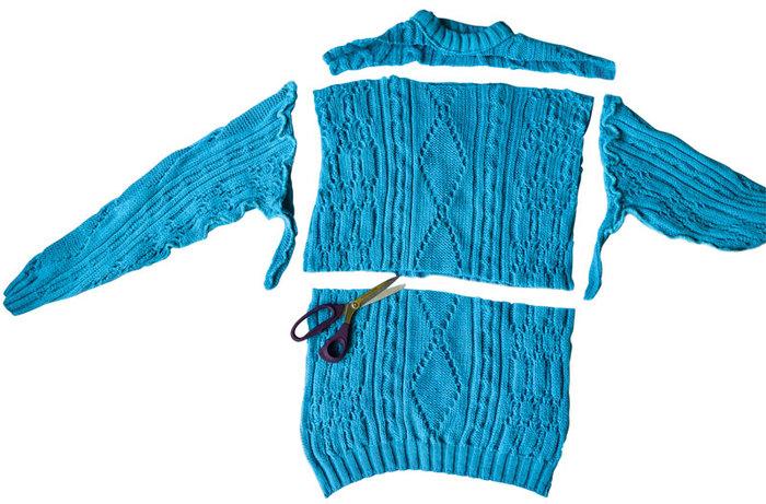 Снуд из старого свитера