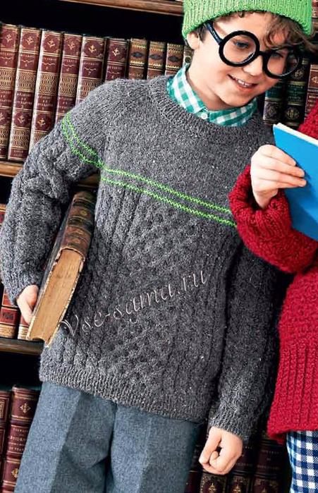 Seryi-pulover-s-kosami-ris (451x700, 392Kb)
