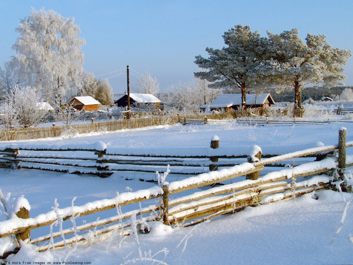 деревня зимой прекрасна (800x625, 435Kb)