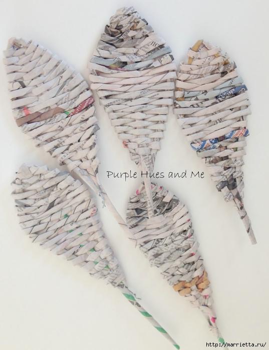 Плетение. Цветы из газетных трубочек (7) (537x700, 234Kb)