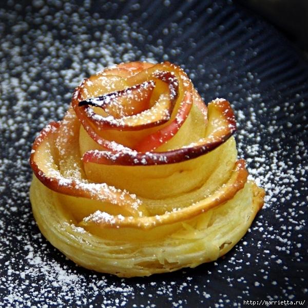 Яблочное пирожное Букет роз (2) (600x600, 332Kb)