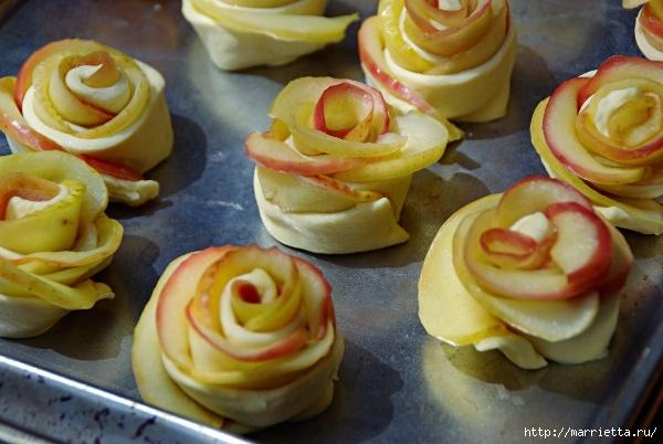 Яблочное пирожное Букет роз (6) (600x402, 189Kb)