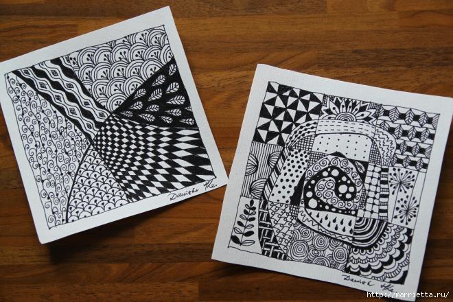 Зентагл - создаем панно и открытки ручной работы (3) (660x440, 215Kb)
