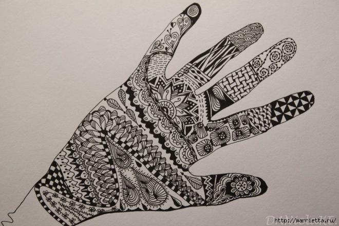 Зентагл - создаем панно и открытки ручной работы (15) (660x440, 157Kb)