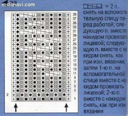 патентный-узор-спицами-схема-44 (449x406, 181Kb)