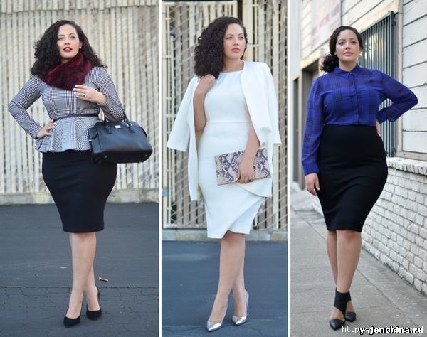 Что с чем носить полным женщинам фото