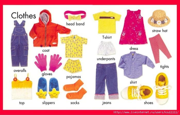 картинки по теме одежда на урок английского языка