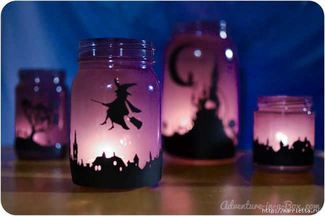 К Хэллоуину. Сказочные ночники из баночек своими руками (5) (650x433, 153Kb)