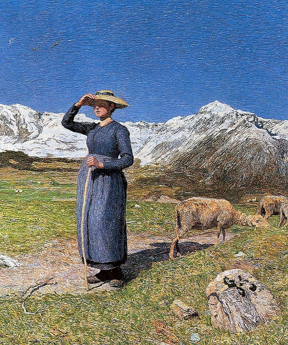 Midday in the Alps, 1891 (585x700, 692Kb)