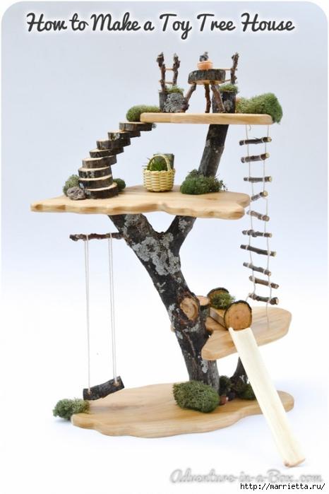 Из природных материалов. Декоративный домик для феи (22) (466x700, 165Kb)