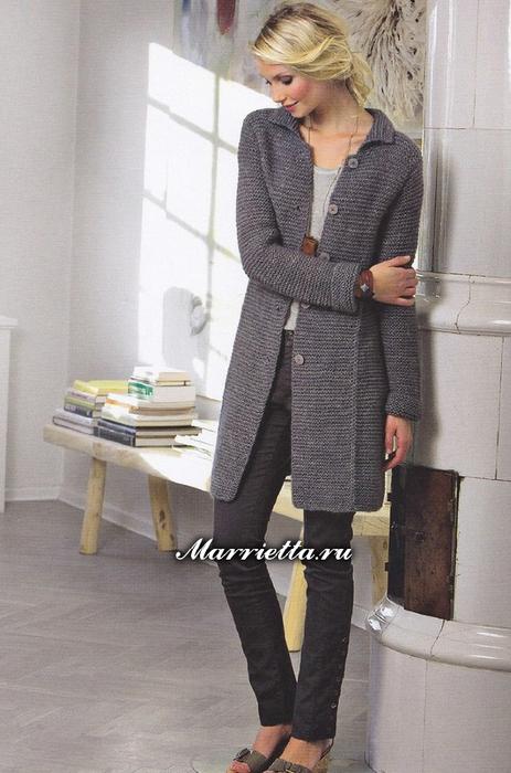 Стильное вязаное пальто Fiona (1) (463x700, 324Kb)