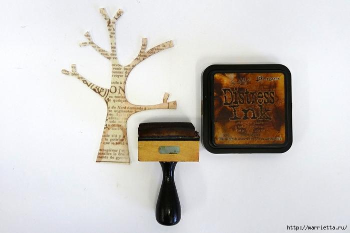 Декоративная рамка с цветущим деревом (1) (700x466, 190Kb)