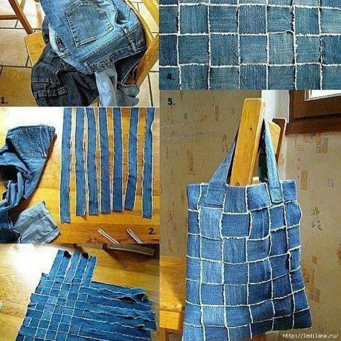 Пошив сумок из старых вещей