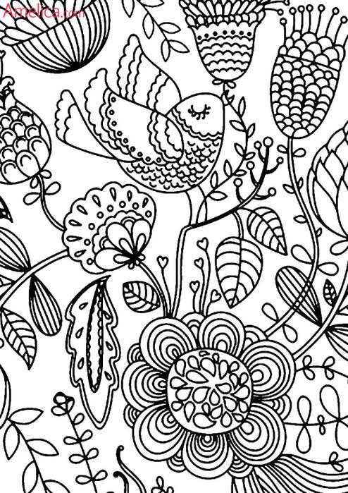 Антистресс раскраски для взрослых Арттерапия  VK