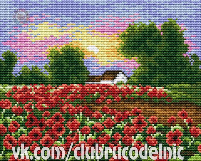 Poppies Field (700x560, 761Kb)