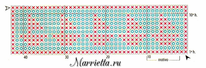 Филейное вязание. Украшаем махровое полотенце (4) (700x232, 255Kb)
