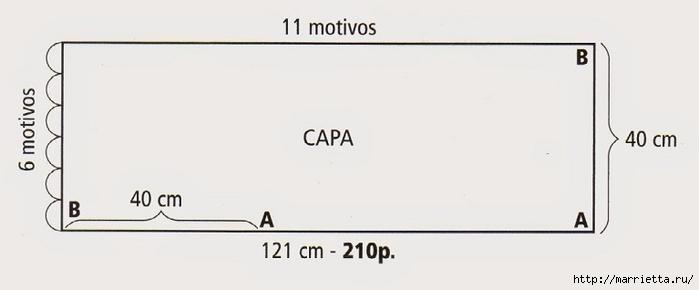 Пончо волнистым узором фантазийной пряжей (3) (700x290, 61Kb)