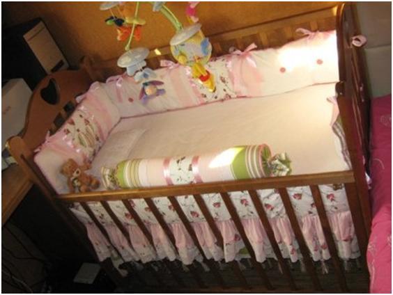 Как сшить бортики в кроватку для девочки