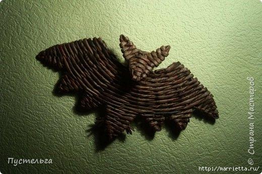 Летучая мышь. Плетение из газет от Пустельги (520x346, 132Kb)