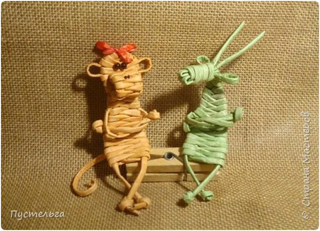 Игрушки из газетных трубочек